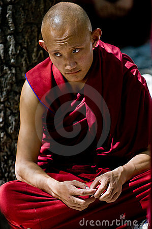 Mnich tybetańskiej Obraz Stock Editorial
