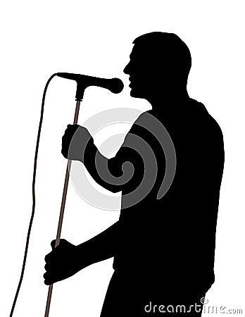 Männlicher Sänger