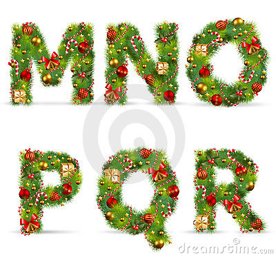 Free MNOPQR,  Christmas Tree Font Stock Photos - 17325723