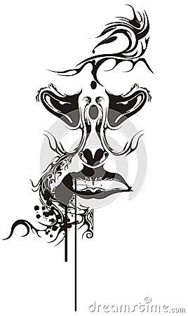 Mänsklig tatuering för grunge