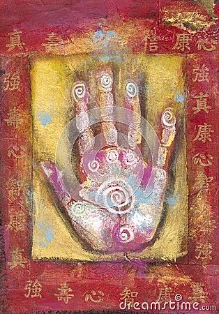 Mão chinesa da energia