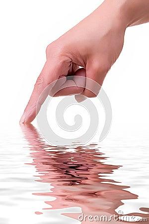 Mão com reflexão