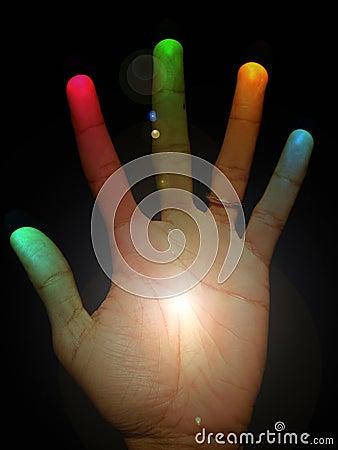 A mão da cura