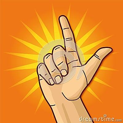 Mão e dedo indicador