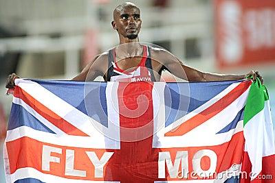 Mo Farah of Great Britain Editorial Stock Photo