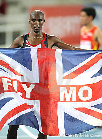 Mo Farah of Great Britain Editorial Photography