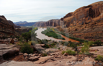 Moab Rim Above Colorado River