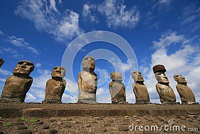 Moai in Easter Island