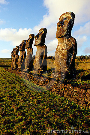 Free Moai- Easter Island, Chile Royalty Free Stock Photography - 12789637