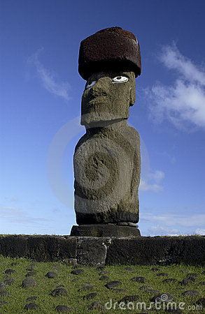 Moai on Easter Island - Pacific Ocean