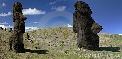 Moai - Easter Island - Southern Pacific Ocean