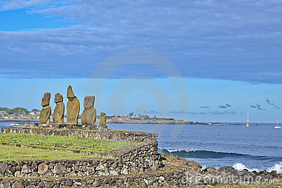 Moai - Monolithic human statues (Chile)
