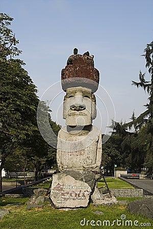 Moai in Santiago de Chile