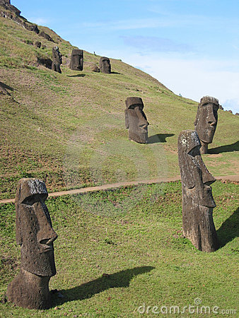 Moais of the Easter Island