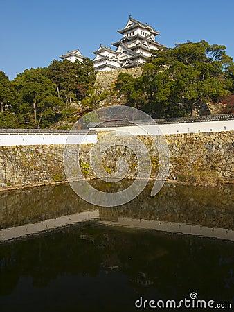 A moat of Himeji castle