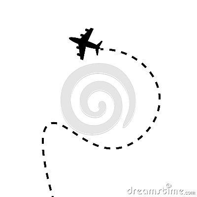 Airplane travel concept Vector Illustration