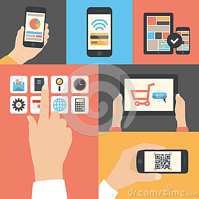 Free Mobile And Tablet Business Communication Usage Stock Images - 35195834