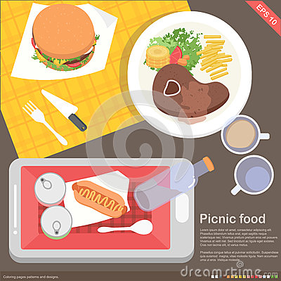 Mobile application cooking and food concept