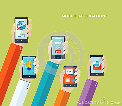 Mobile applications concept