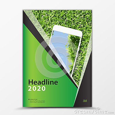 Free Mobile Apps Flyer, Cover Design, Smartphon Ad, Annual Report Cover Template, Business Brochure Flyer Layout Royalty Free Stock Photos - 119193028