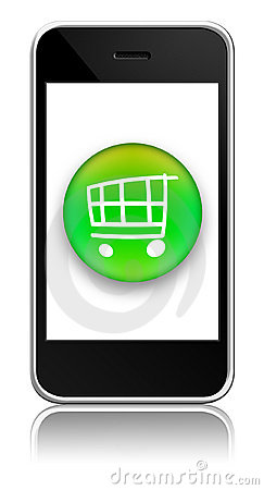Mobile with buy button inside