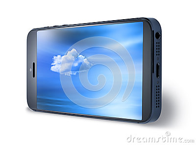 Mobile Cell Phone Sky Isolated