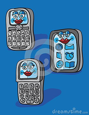 Mobile cells cartoon