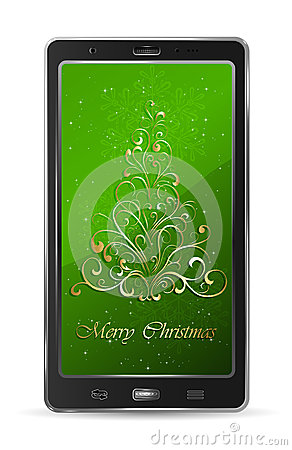Mobile with Christmas tree