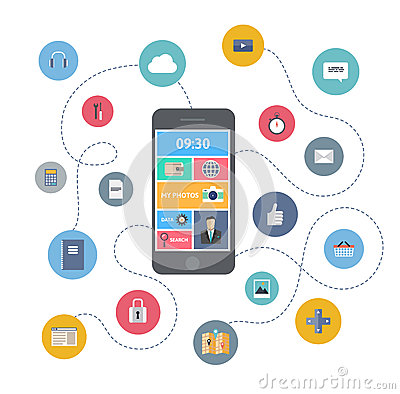 Free Mobile Communication Illustration Concept Stock Photography - 34705002