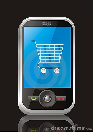 Mobile e commerce stock photos image 13371563 for E commerce mobili