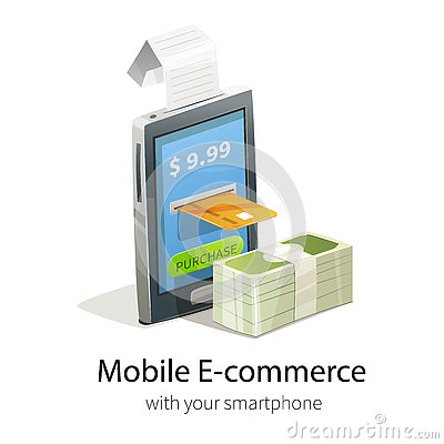 Mobile e commerce concept stock vector image 73462860 for E commerce mobili