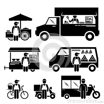 Car Wash Vacuum >> Mobile Food Vehicles Cliparts Stock Vector - Image: 52405358