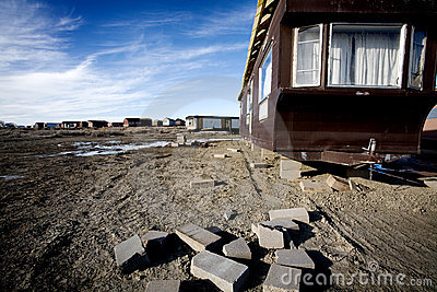 Mobile homes abandoned