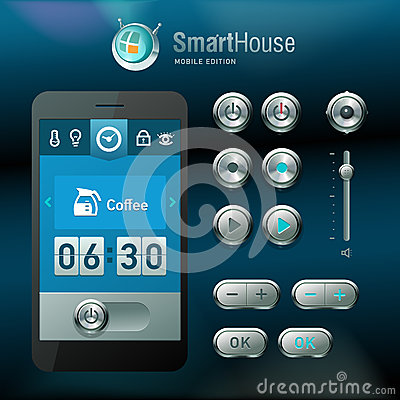 Mobile interface and vector elements.