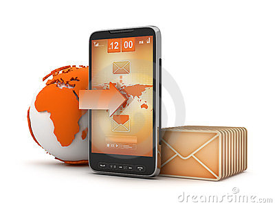 Mobile mail - concept illustration