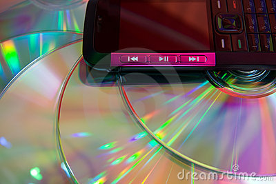 Mobile musical cell phone and  color disks
