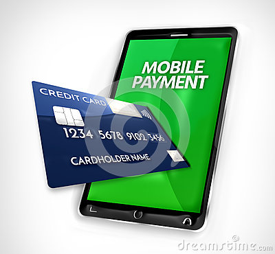 Mobile Payment Credit Card 3d Render Stock Illustration - Image: 74786437