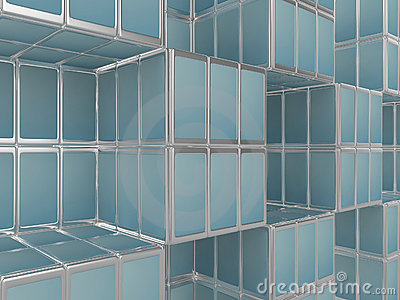 Mobile phone abstract cubicle background
