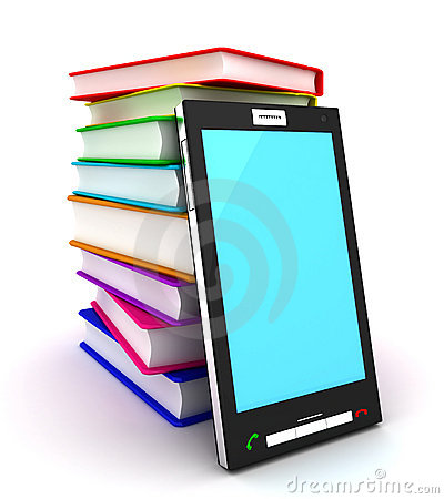 Free Mobile Phone And Books Royalty Free Stock Image - 18428236