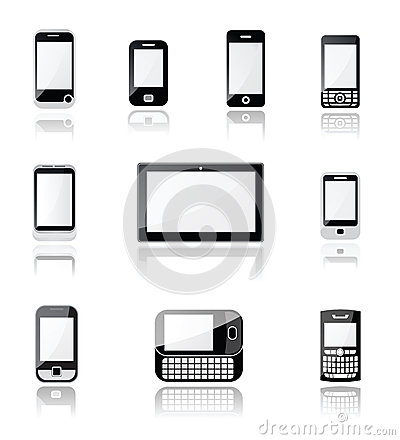Free Mobile Phone And Tablet Icons Stock Image - 29809441