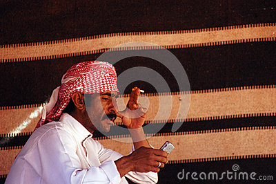 Mobile phone in the Arab world Editorial Stock Photo
