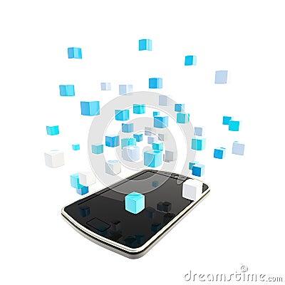 Mobile phone cloud computing concept