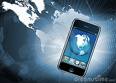 Mobile phone communication Editorial Stock Image