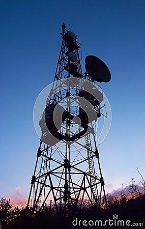 Mobile phone communication antenna towe