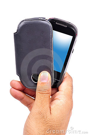 Mobile phone with cover