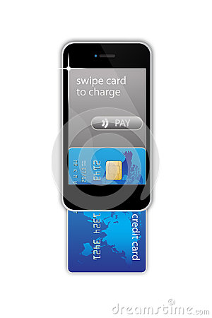 Mobile phone credit card concept