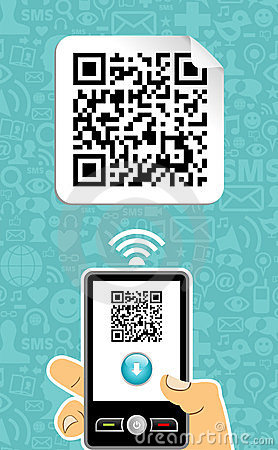 Free Mobile Phone Decoder Qr Code Stock Photography - 23809222