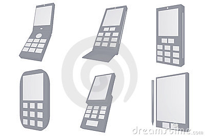 Mobile Phone Designs Type Icons