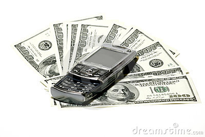 Mobile Phone and Dollar Concept