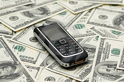 Mobile phone and dollars